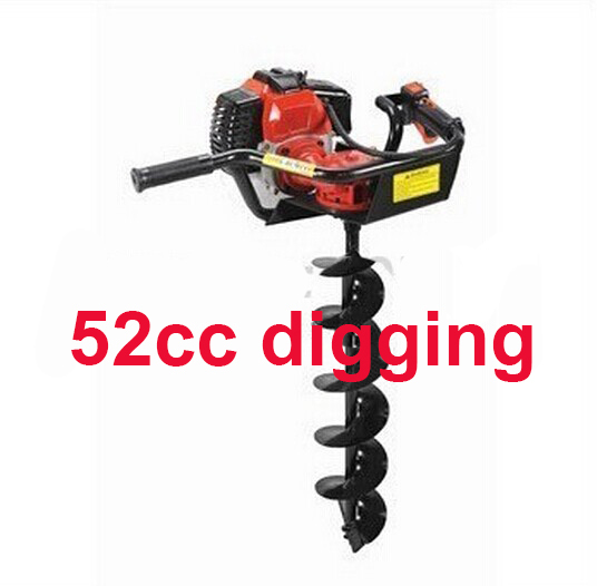 Hot selling 52cc Gasoline hammer drill hand earth drill auger drilling bit tool powerful 71cc hot earth hole drilling machine and hand earth drill earth auger