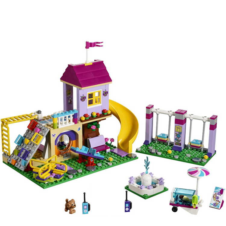 Friends Series Heartlake City Playground LEPIN Building Blocks Classic For Girl Kids Model Toys Marvel Compatible Legoe lepin building blocks sets city explorers jungle halftrack mission bricks classic model kids toys marvel compatible legoe