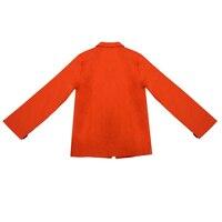 ABWE Tốt Nhất Bán Trẻ Em Trai Thường Dài tay Blazers Trẻ Em Thời Trang Cotton Trang Phục Màu Đen 120 CM