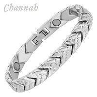 Channah 2017 Gezondheid Alle Zilver Magnetische Rvs Vrouwen Armband Arrow Bangle Bio Healing Magneten Sieraden Polsband Charm