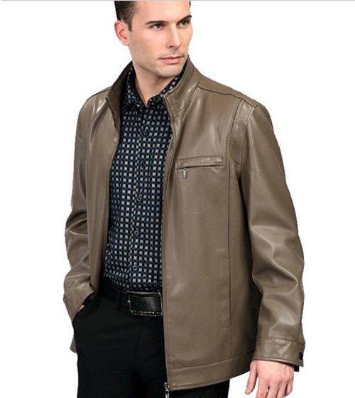 2013 autumn and winter jacket mens business collar the winter coats jackets casual imported washed leather new listing FLM031