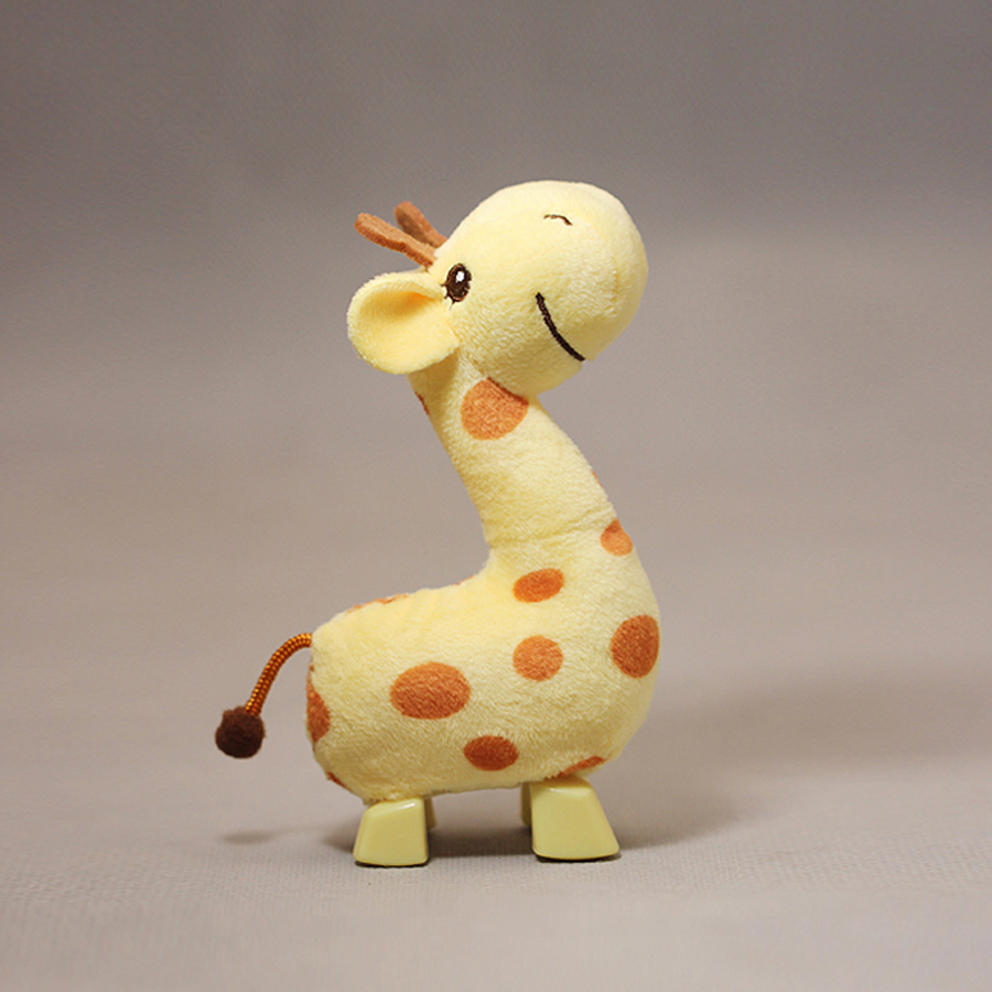 14aeba98210 Cute Cartoon Animals Small Baby Plush Giraffe Toys Clockwork Kids Doll  Knuffel Baby Gift Mini Pelucias