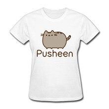 T-shirts for Women Harajuku Funny Product Tops Pusheen Lady Casual Short Sleeve T-Shirt Tops free shipping