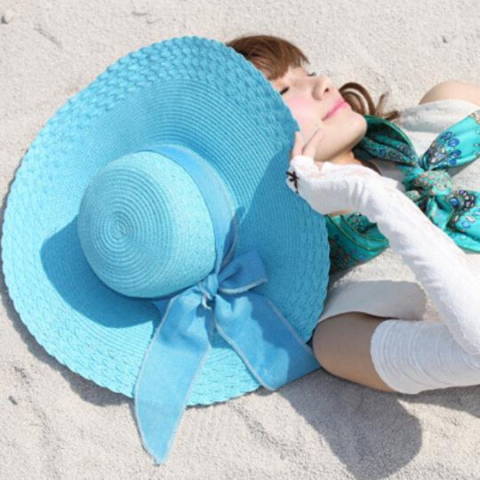 Новый Корейский Beach Sun Hat с Бабочкой Женщин Лето Cap Повседневная Твердые Соломенные шляпы для женщин