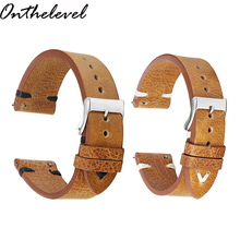 Onthelevel Genuine Leather Design Special&Classical Watchband 18mm 20mm 22mm watch accessories Straps