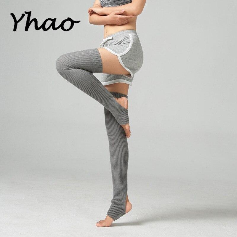 Yhao Women Yoga Long Knitted Leg Warmers Socks For Ballet Latin Dance Pilates Ladies Boot Socks Trainer Fitness Leg Stocking