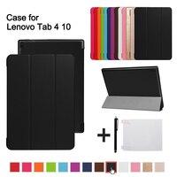 Магнитный чехол для lenovo tab 4 10 защитную обложку Smart cover для lenovo tab 410 Tab4 10 TB-X304N F случаях 10,1