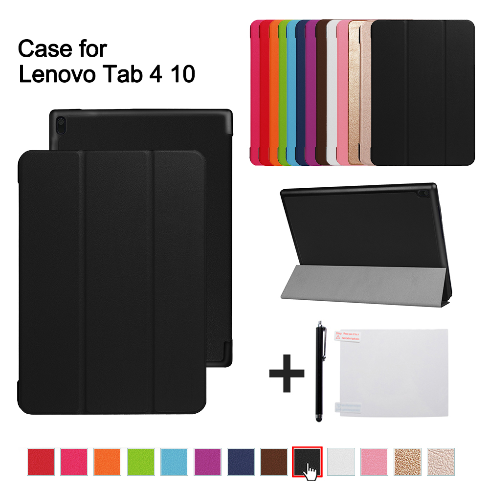 Magnetic Case For Lenovo TAB 4 10 Protective Smart cover for lenovo tab410 Tab4 10 TB-X304N F Cases 10.1 (2017 release)+gift ultra slim cover case for lenovo tab 4 10 2017 release for lenovo tab410 tab4 10 tb x304n f cases 10 1 smart case cover gitf