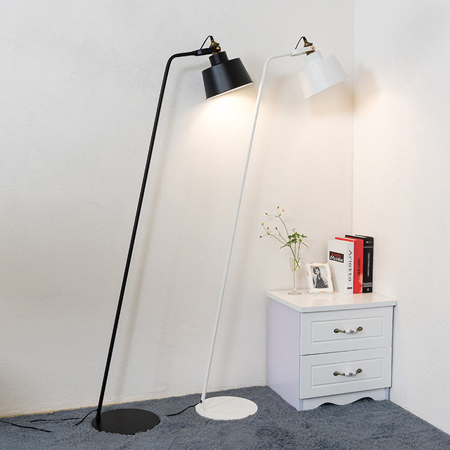 Online shop nordic simple led floor lamp post modern creative nordic simple led floor lamp post modern creative personality designer living room bedroom study american reading home lamp mozeypictures Gallery