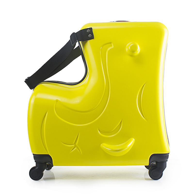 LeTrend Cute Cartoon Children Rolling Luggage Spinner Suitcase Wheels Student Multifunction Trojan horse Trolley Kids Travel Bag