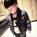 chifave 2016 New Design Winter Kids Boys Outerwear Ruffled Wool Collar Zipper&Button Jacket Children Boys Warm Coat 2 Colors