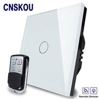 2016Hot Sale EU Standard Switch AC 220 250V Remote Dimmer Wall Light Switch Wireless Remote Control