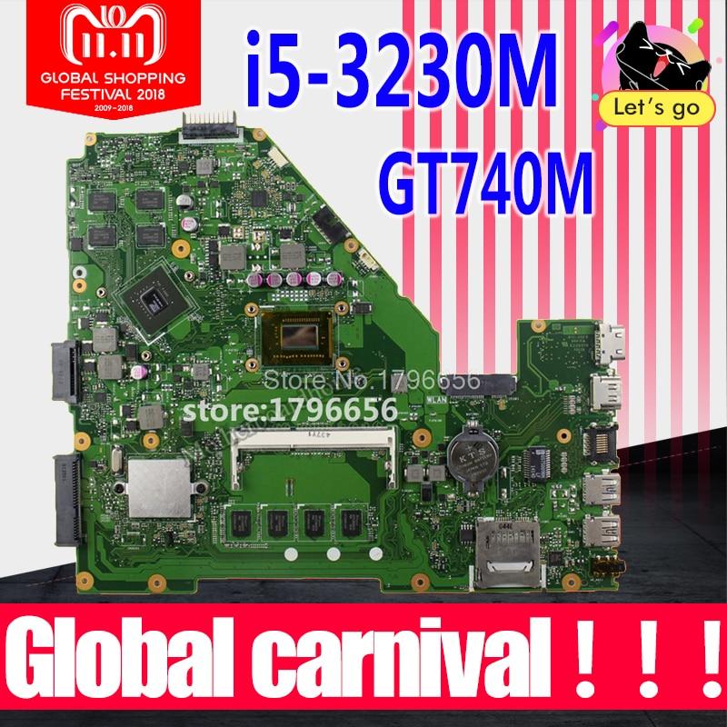 X550CC Motherboard GT740M i5-3230M For ASUS X550C X550CL X552C laptop Motherboard X550CC Mainboard X550CC Motherboard test ok цена