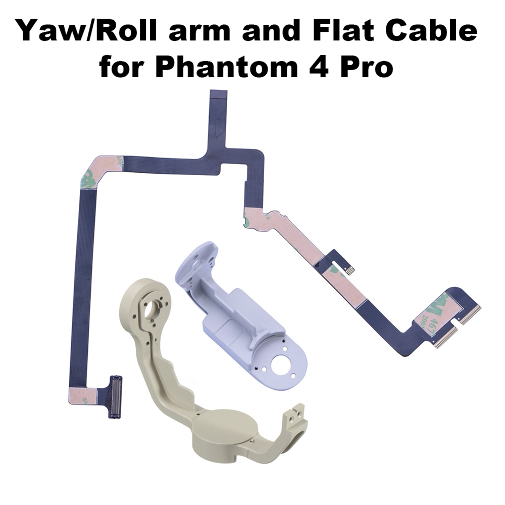 Gimbal Yaw Arm Roll Bracket Robbin Flat Cable Flex For DJI Phantom 4 Pro Drone Camera Repairing Parts Accessory
