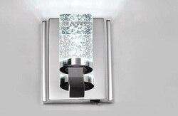 Nowoczesna lampa kryształowa wysokiej klasy lampa ścienna ze stali nierdzewnej LED crystal salon sypialnia alejek kinkiet róż FG653