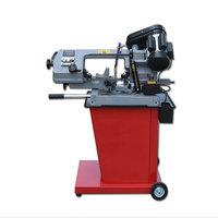 AC220V 1000W Miniature Multifunctional Metal Saw Small Band Sawing Machine Cutting Machine For Small Metal Wood PVC Processing