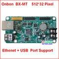 Onbon bx-5mt, usb, ethernet, порт rj45, управление размером 512*32, поддержка HUB12, HUB08, монохромный, один цвет, два цвета контроллер
