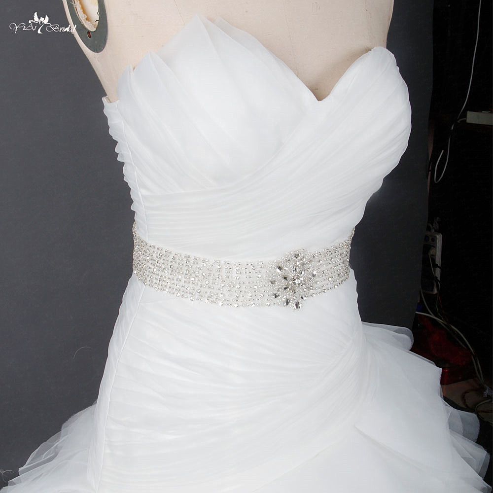 RSW1230 Dropped Oblique Wait Ruffles Skirt Puffy Wedding Gowns-in ...
