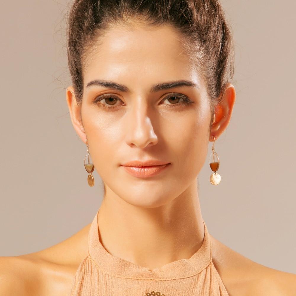 Vintage Glass Bead Pendant Earrings 1