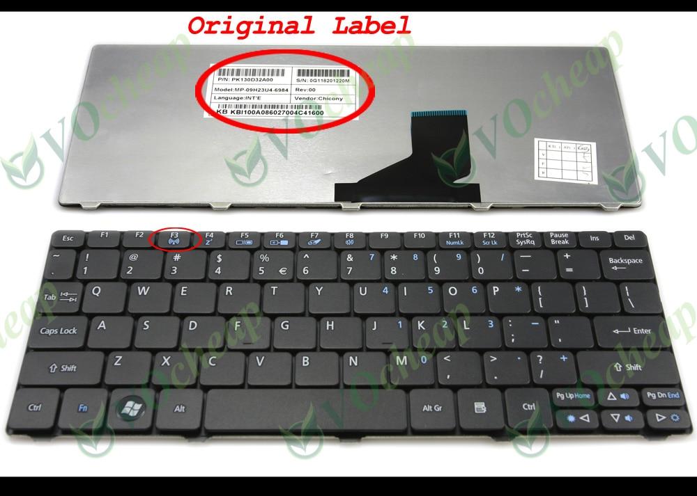 NUOVO Acer Aspire V5-531 10178 G 1 TMASS Ricambio Laptop Tastiera UK Nero