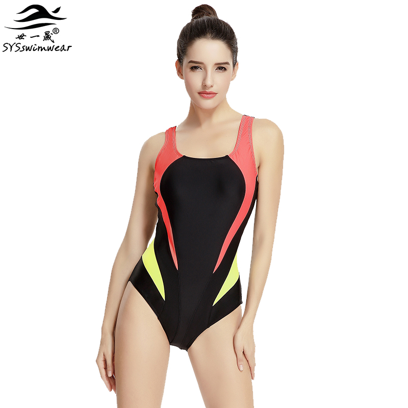 Hot New Summer Pool High Quality Sexy Women One Pieces Swimwear Backless & Wire Free Sport Girl Swimsuit Patchwork Bathing Suit new hot sexy high quality two zipper japanese sukumizu school swimsuit one pieces slimming swimsuit women bathing suit with pad