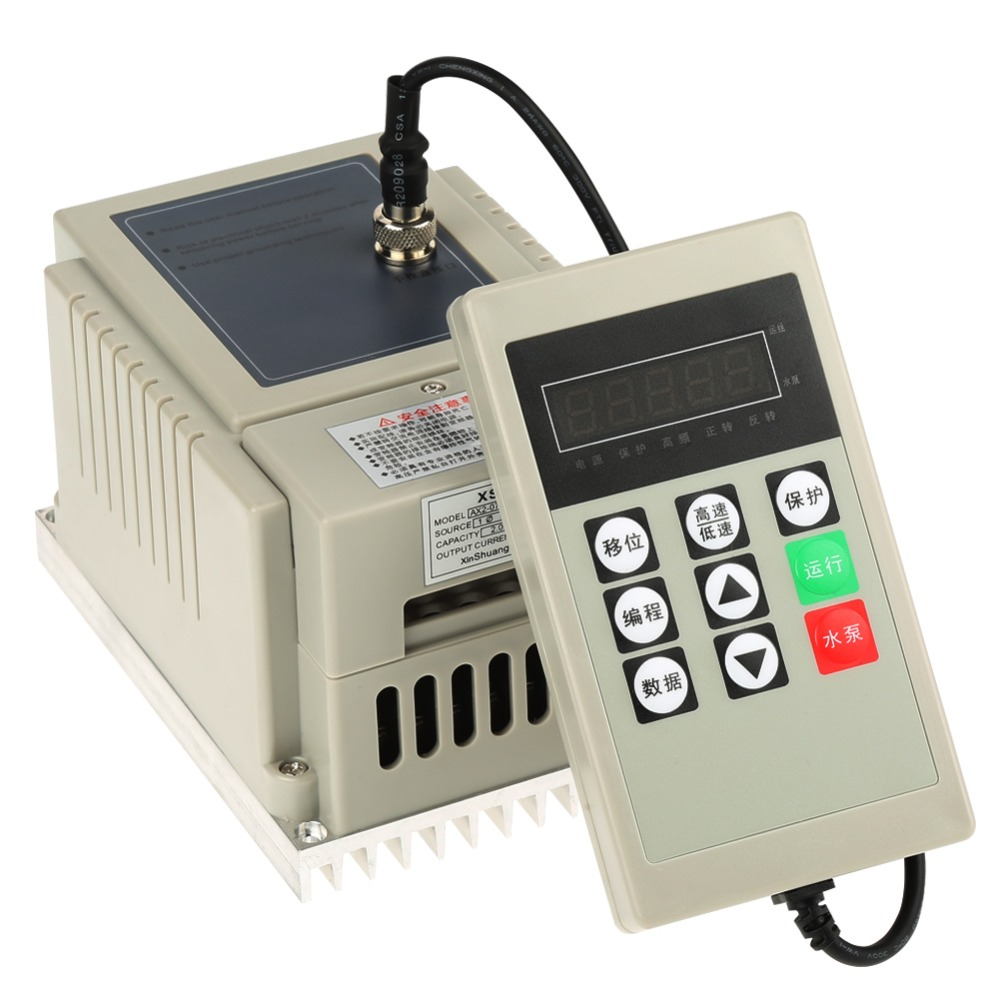 AX2-B Plastic Shell 220V 0.75KW 4A Single-Phase Variable Speed Motor Drive Frequency Inverter PWM Control baileigh wl 1840vs heavy duty variable speed wood turning lathe single phase 220v 0 to 3200 rpm inverter driven