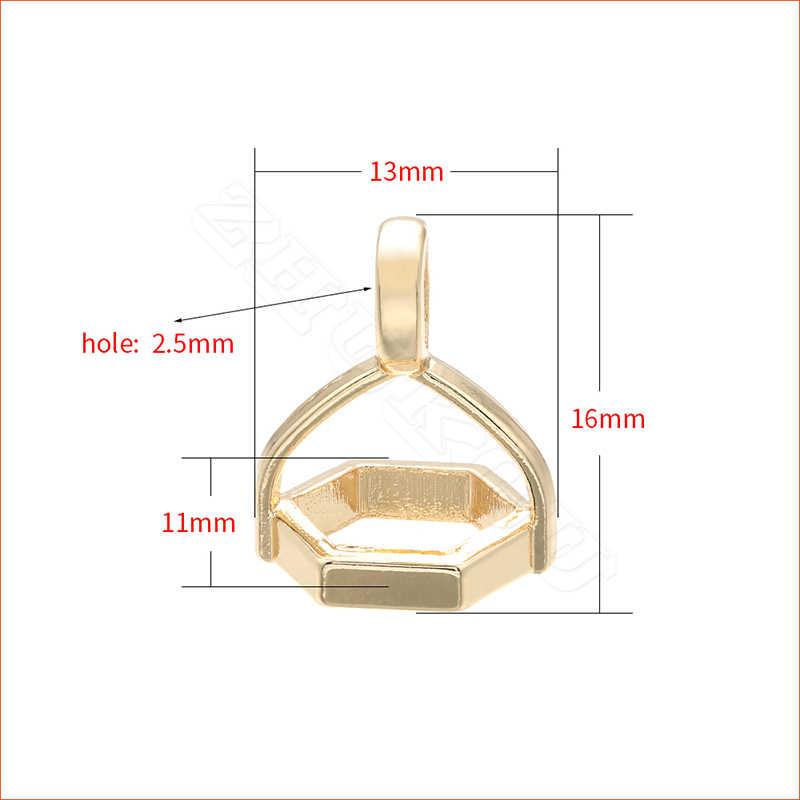 ZHUKOU 13x16mm koszykówka wisiorek mosiądz cyrkonia Charms dla kobiet handmade naszyjnik kolczyki modelu: PD12 otworu: 2.5mm