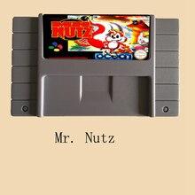 Mr.Nutz USA Version 16 bit Big Gray Super Game Card For PAL NTSC Game Player