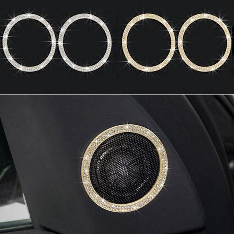 2 pièces argent/or porte haut-parleur garniture voiture intérieur accessoires pour Land Rover Discovery Sport 2015 2016 2017 voiture style
