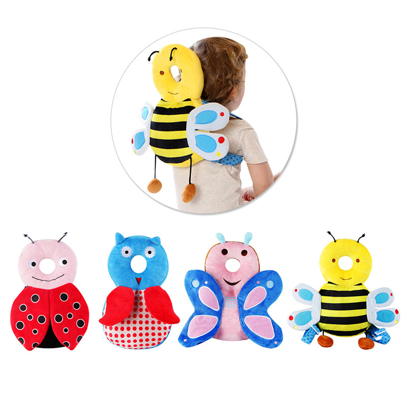 Baby Head Protector Pillow Toddler Children Neck Protective Pad Wings Cushion for Learning Walk Sit Assistant aid safety helmet baby head protective pad cartoon animal toddlers pillow infant learning walk safety cushion fj88