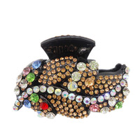 New Large Best Quality Acetate Austrian Rhinestone Hair Claw Clip For Women Leaves Shape Hair Crab