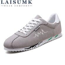 2019 LAISUMK Brand Men Casual Shoes Fashion Breathable Male Sneakers Luxury Flats