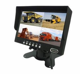 4 voies entrée 7 pouces TFT LCD écran voiture moniteur vue arrière affichage pour rétroviseur caméra de recul voiture TV affichage pour camion