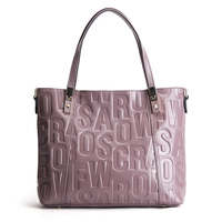 2017 Women Bag Hand Bags Casual Tote Natural Real Leather Handbags Genuine Leather Shoulder Bags Purple
