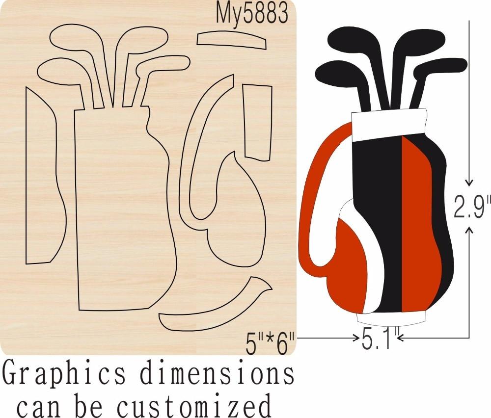 Golf Club nieuwe houten schimmel stansmessen voor scrapbooking Thickness 15.8mm-in Stansvormen van Huis & Tuin op  Groep 1