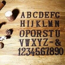 Новые металлические буквы цифры чугунные украшения знак на дом Doorplate DIY кафе стены XSD88