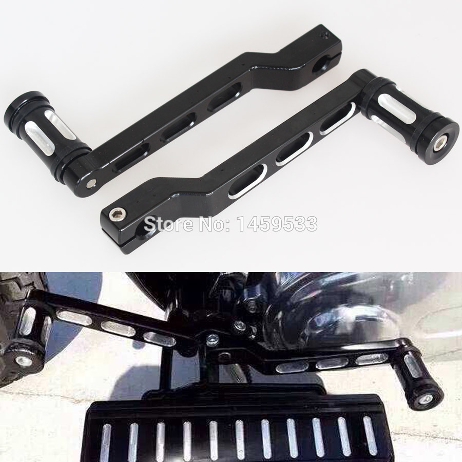 Deep Edge Cut Heel/Toe Shift Lever with Shifter Peg Harley Touring Softail Glide Custom left rear heel shift shifter lever pedal peg for harley touring softail fl 1988