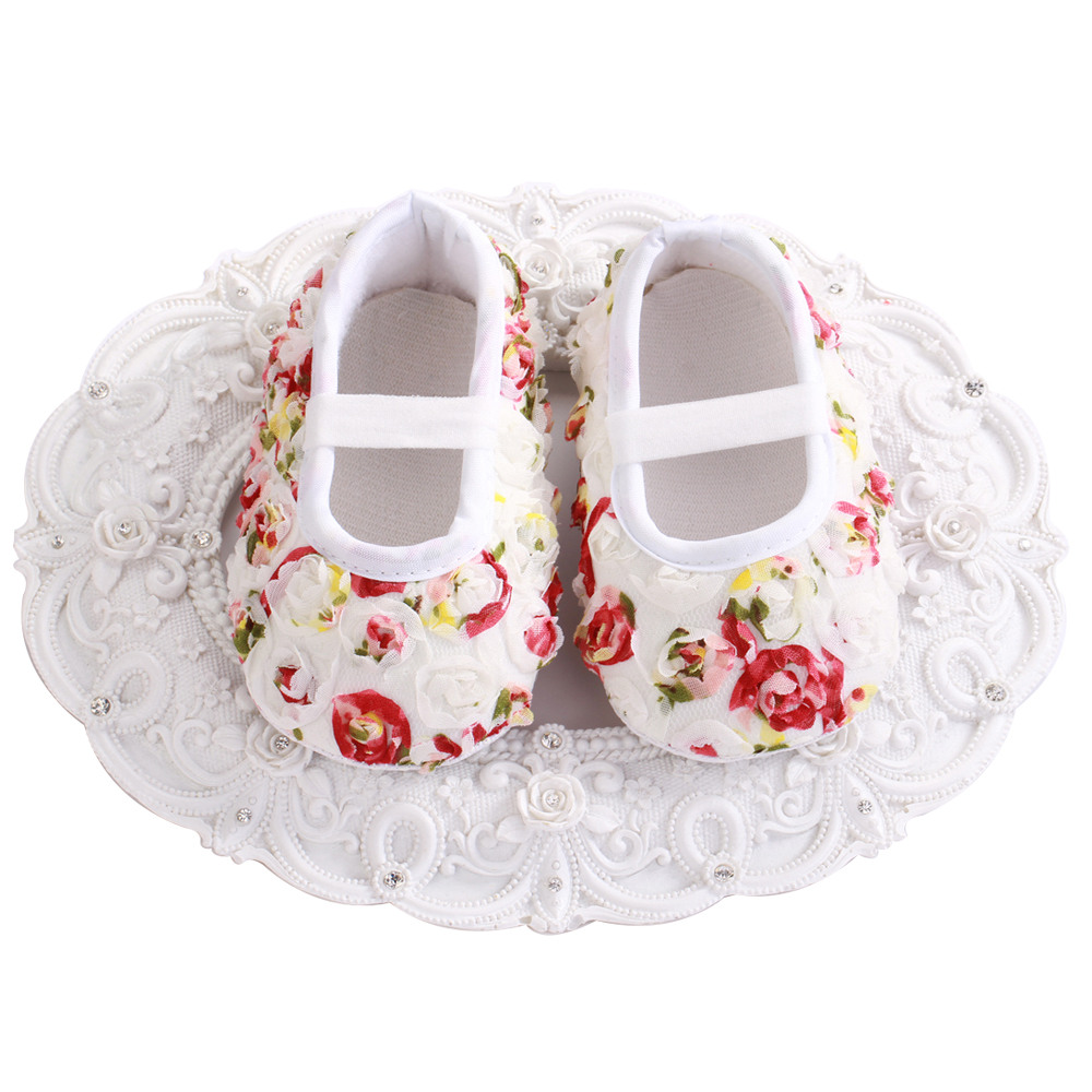 Aliexpress Buy 4 Pairlot Ivory White Flower Girls Baby Shoes