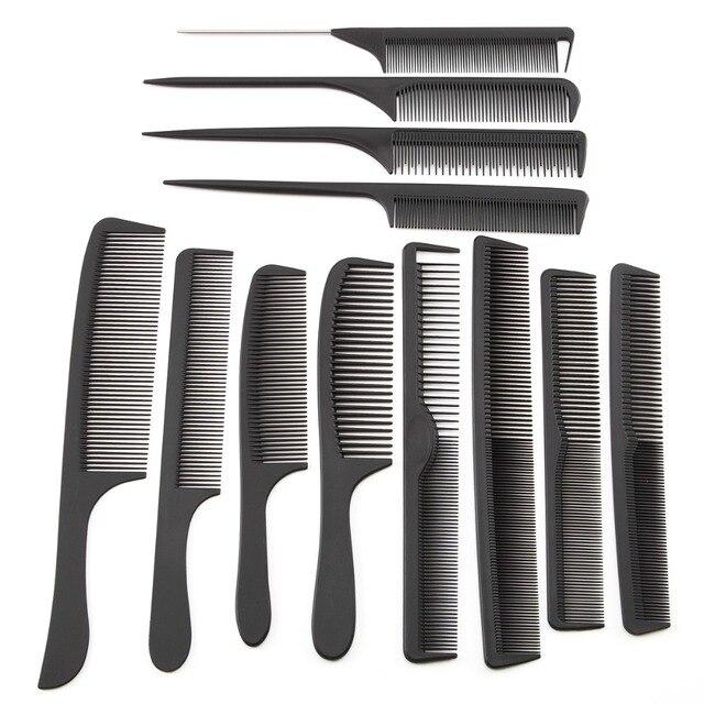 12 estilo Anti-estática peluquería peines desenredar el cabello recto cepillos de pelo de peluquería corte de pelo peine Pro salón de cuidado del cabello de estilo herramienta