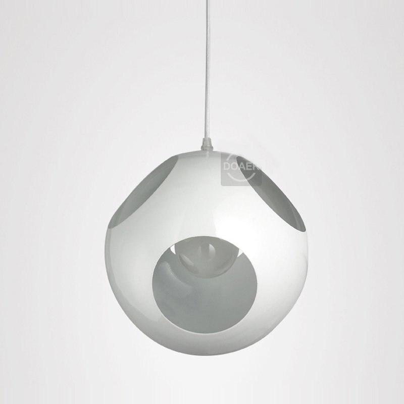 Матовое железо связаться подвесной светильник бесплатная доставка 6 отверстий выдалбливают черный/белый Утюг Ресторан creatived клуб бар подве... - 3