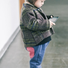 2018 New kids clothes winter thickening wool blends coat plus Faux Fur baby girl clothing boys baby warm jacket plaid style 2-6Y winter children s fur coat long style boy leather clothing hooded girl faux fur jacket thickening plus velvet cotton outerwear