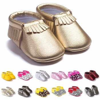 Tassels 26-Color PU Leather Baby Shoes Baby Moccasins Newborn Shoes Soft Infants Crib Shoes Sneakers First Walker 1