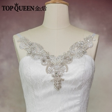 TOPQUEEN Free shipping New arrived 2017 Wedding Jackets / Wrap J02 White and ivory Hanging neck