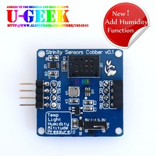 On sale UGEEK Temperature, Barometric, Altitude, Light, Humidity Five in One Sensor Module for Arduino Raspberry Pi 3 2 B+,Suport Stack