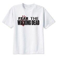 the walk dead T shirt men t shirt fashion t-shirt O Neck white TShirts For man Top Tees MMR494