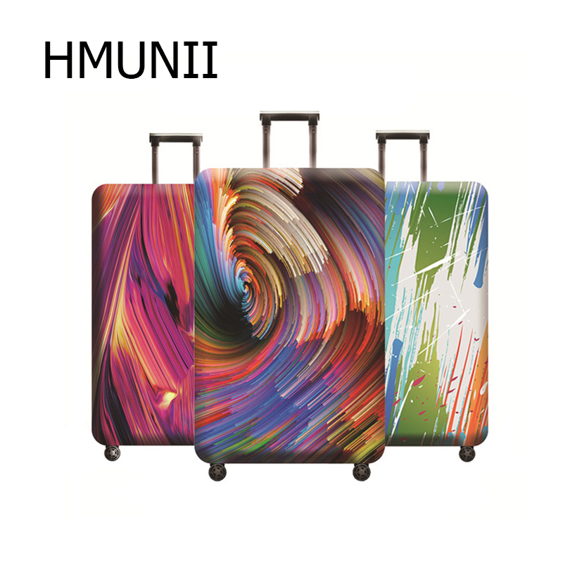 Color Painting 3D Pattern Luggage Cover Suitcase Elastic Protective Cover Trolley Case Dust For 18-32 Inch Travel Accessories