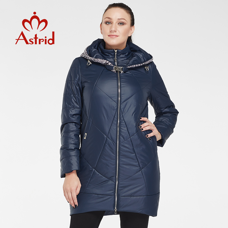 2019 astrid Thin Women Long Quilted Parkas Women Cotton Padded Jacket autumn Windproof Womens autumnJackets Coats
