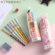 Hethrone 30pcs Animal wooden pencils for school Student writing drawing pencil set crayons sketch graphite lapices items