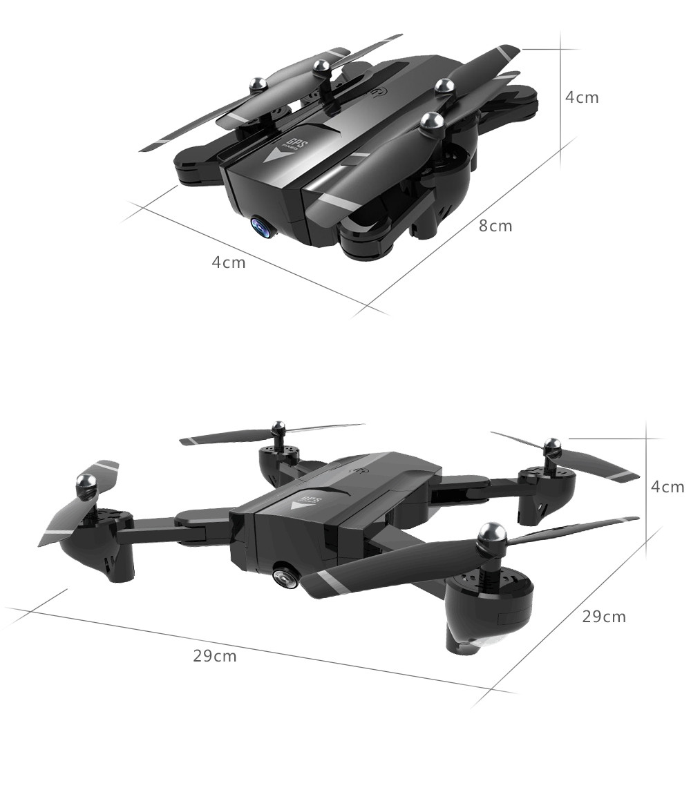 Global Drone Foldable GPS Follow Drone with Camera Full HD RC Quadcopter Profissional FPV Drones Quadrocopter VS VISUO XS812 27