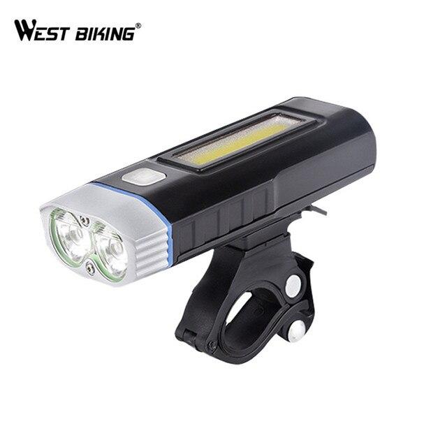 west biking usb oplaadbare fiets licht voor stuur sport fietsen led verlichting batterij zaklamp zaklamp